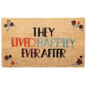 Coir Door Mat - They Lived Happily Ever After